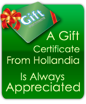 A Gift Certificate From Hollandia Is Always Appreciated
